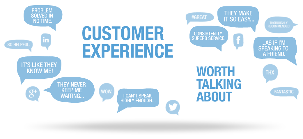 Customer experience header